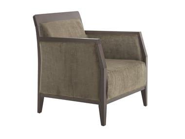 Upholstered beech easy chair with armrests OPERA BOHEME 49EM.i8
