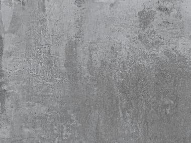 Porcelain stoneware flooring with concrete effect ÓPERA IRON