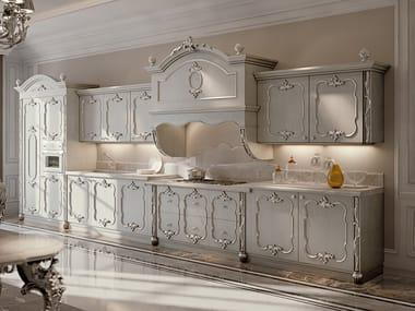 Linear wooden kitchen OPERA | Linear kitchen