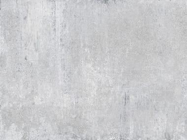 Porcelain stoneware flooring with concrete effect ÓPERA SILVER