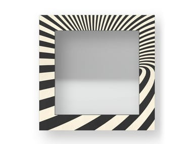 Square wall-mounted framed mirror OPTICAL COLD | Mirror
