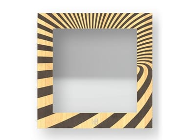 Square wall-mounted framed mirror OPTICAL WARM | Mirror