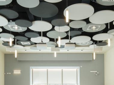 Mineral acoustic ceiling clouds OPTIMA L CANOPY