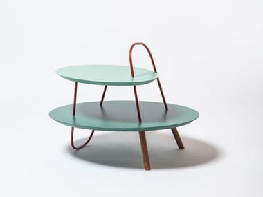 Round wooden coffee table ORBIT 2L