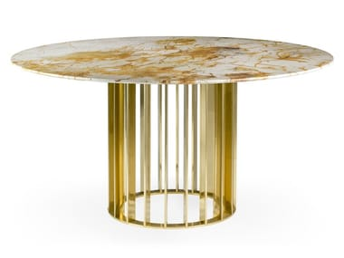 Round Spiderman marble dining table ORBITER SPIDERMAN | Dining table