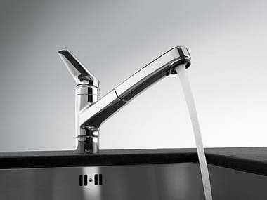 Countertop kitchen mixer tap with pull out spray KWC ORCINO | Kitchen mixer tap with pull out spray