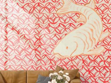 Papel de parede de tecido não tecido ORIENTAL RED