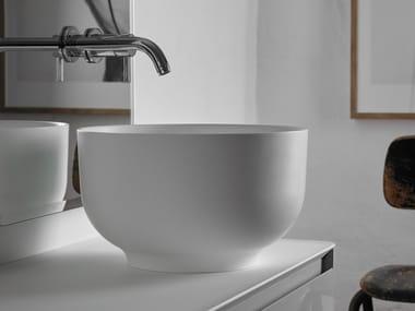 Lavabo sobre encimera redondo de Ceramilux® ORIGIN | Lavabo sobre encimera