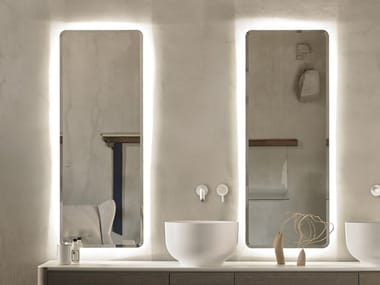 Rectangular bathroom mirror with integrated lighting ORIGIN | Mirror with integrated lighting