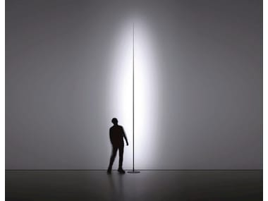 LED glass-fibre and metal floor lamp ORIGINE
