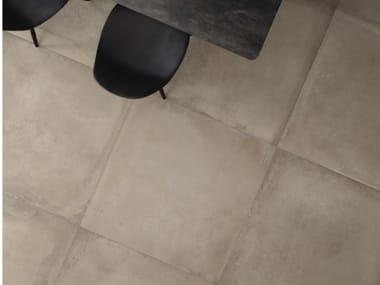Pavimento in gres porcellanato effetto cemento ORIGINI CP