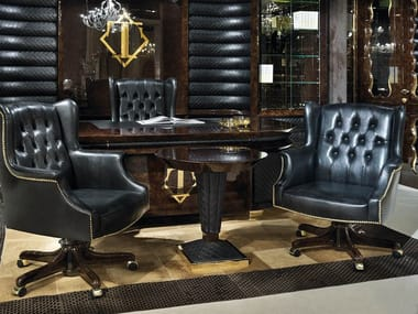 Leather executive chair with armrests ORION | Executive chair