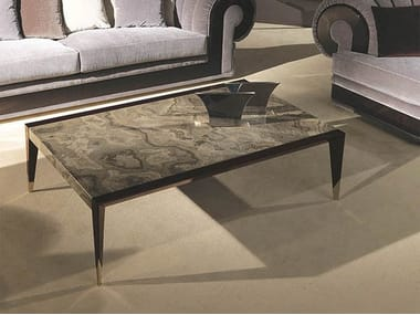 Low rectangular marble coffee table ORION | Marble coffee table