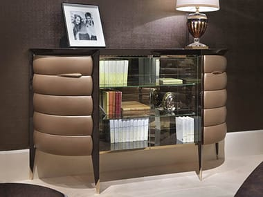 Lacquered wooden office storage unit ORION | Office storage unit