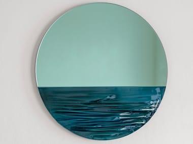 Wall-mounted round mirror ORIZON JADE GREEN