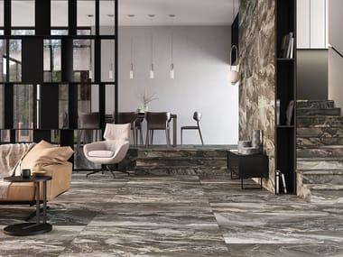 Revestimiento de pared/suelo de gres porcelánico efecto mármol OROBICO TAUPE