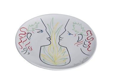 Piatto piano in ceramica ORPHEE ET EURYDICE