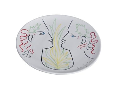 Ceramic dinner plate ORPHEE ET EURYDICE