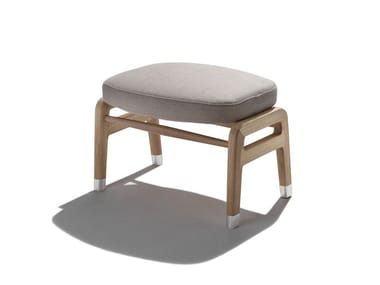 Upholstered fabric footstool ORTIGIA OUTDOOR | Footstool