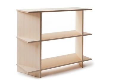 Open birch bookcase OSA 3
