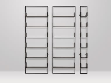 Wall-mounted metal shelving unit OSAKA