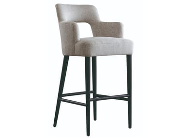 High fabric stool with armrests OSCAR | Stool
