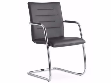 Cantilever stackable chair with armrests OSLO 225-N4