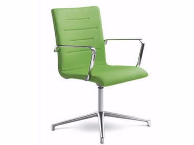 Chair with 4-spoke base with armrests OSLO 227-K-N6