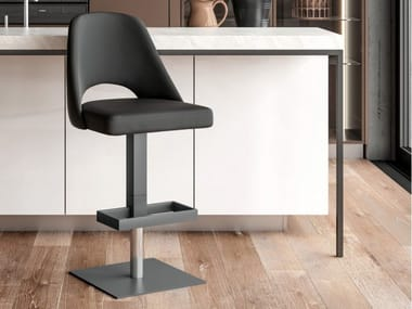 Stool with gas lift with footrest OSLO