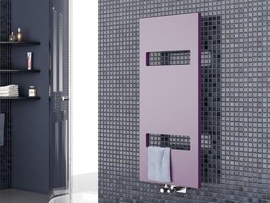 Vertical wall-mounted towel warmer OSLO