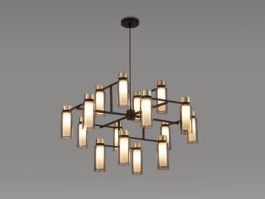 Lampadario in metallo verniciato OSMAN | Lampadario in metallo