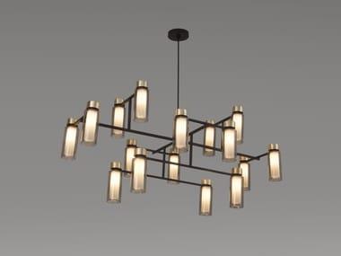 Lampadario in metallo verniciato OSMAN | Lampadario in metallo verniciato