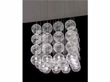 Blown glass pendant lamp OTO SP CUB