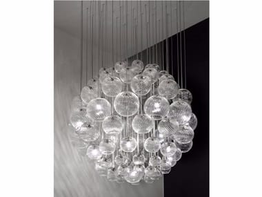 Blown glass pendant lamp OTO SP SPH