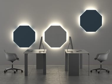 Felt Decorative acoustic panel with Integrated Lighting OTTAVA | Decorative acoustic panel with Integrated Lighting