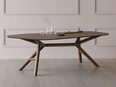 Contemporary style walnut table OTTO | Walnut table