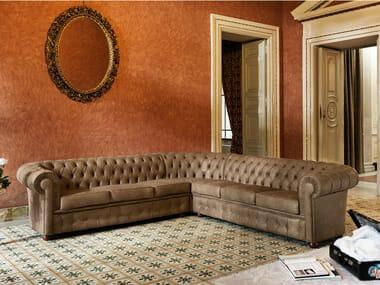 Corner tufted leather sofa OTTOCENTO | Corner sofa