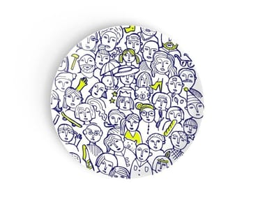 Round porcelain plate for children WHERE IS LÉO?