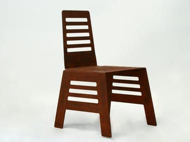 Corten™ outdoor chair CUT | Outdoor chair