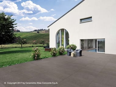 Porcelain stoneware outdoor floor tiles with concrete effect KONE FLOOR | Outdoor floor tiles