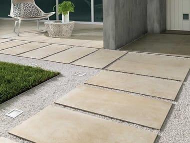 Porcelain stoneware outdoor floor tiles with stone effect CASTLESTONE | Outdoor floor tiles with stone effect