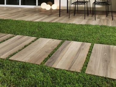 Porcelain stoneware outdoor floor tiles with wood effect COTTAGE | Outdoor floor tiles with wood effect