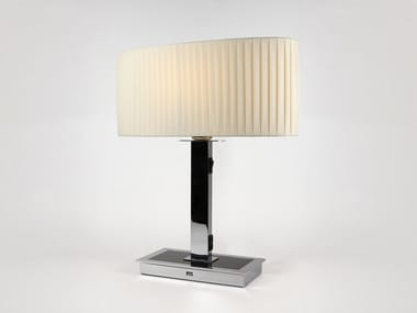 Fabric table lamp with USB charging OVAL M 47