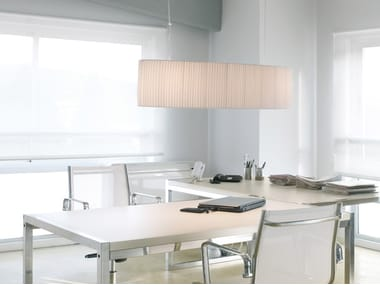 Fabric pendant lamp OVAL S 100