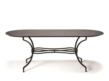 Oval ceramic garden table EMBASSY   Oval table