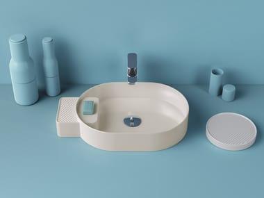 Countertop oval ceramic washbasin CARTESIO   Oval washbasin