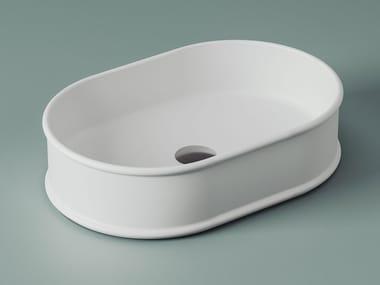 Countertop oval ceramic washbasin ATELIER | Oval washbasin