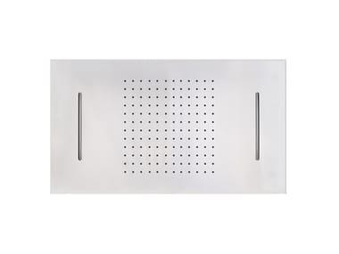 Built-in rectangular stainless steel overhead shower FIAD80698 | Overhead shower