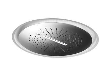 Soffione doccia a pioggia da incasso in acciaio SOFFIONI CON CROMOTERAPIA | Soffione doccia a pioggia