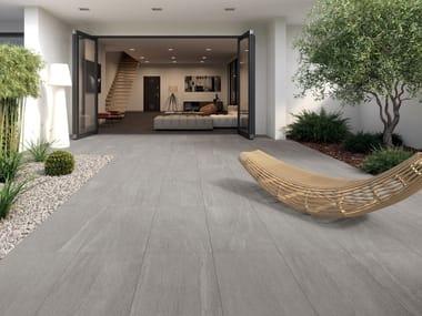 Pavimento in gres porcellanato effetto pietra OVERLAND SILVER